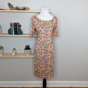 LuLaRoe Julia sz L body con dress knee length NWT